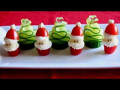 Tomato Santa and Cucumber Christmas Tree Recipe – Japanese Cooking 101
