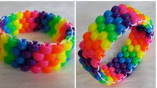 DIY Flat Stitch Peyote Kandi Cuff Tutorial