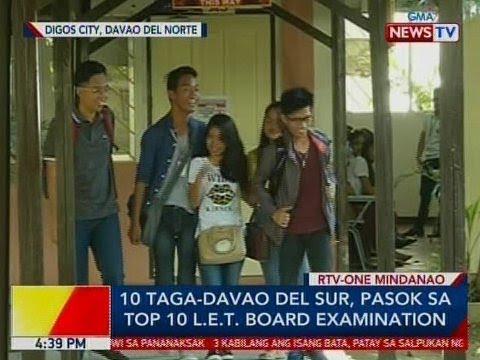 BP: 10 taga-Davao del Sur, pasok sa top 10 LET Board Examination