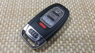 How To Change SmartKey Key Fob Battery On Audi A5 A3 A4 S4 S5 S6 Q5 Keyless Entry IYZFBSB802