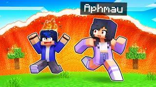 Were STRANDED By A Lava TSUNAMI In Minecraft!