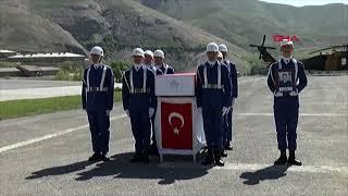 Hakkari'de şehit olan 2 asker memleketlerine uğurlandı