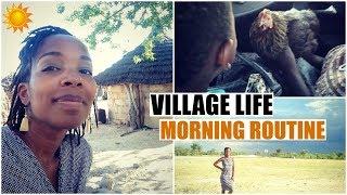 Namibian Village Life: My Morning Routine!   African American Expat