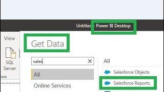 Power BI-1 Get Salesforce Report Data