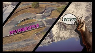 Cliff diving & Karting Track with a FPV Racing drone