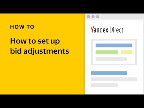 How to set up bid adjustments