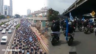Video Ratusan Peserta Demo Kendarai Motor Masuk Tol, Pihak Jasa Marga dan Kepolisian Beri Penjelasan