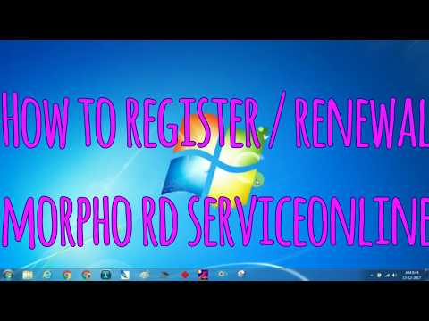Download Morpho Rd Service Installation Full Procces Video 3GP Mp4