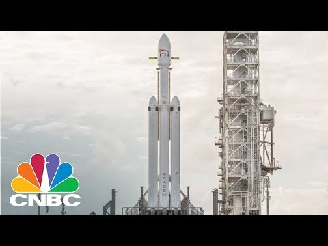 SpaceX Readies Falcon Heavy Rocket For Launch | CNBC
