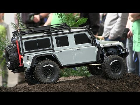 Traxxas TRX 4 Land Rover Defender 4WD Rock Crawler 1:10 Scale RC Modellbaumesse Erfurt 2018