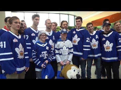 [TOR] Marlies visit SickKids hospital