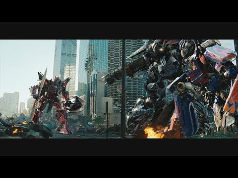Transformers: Dark of the Moon (2011) Final Battle - Only Action [4K]