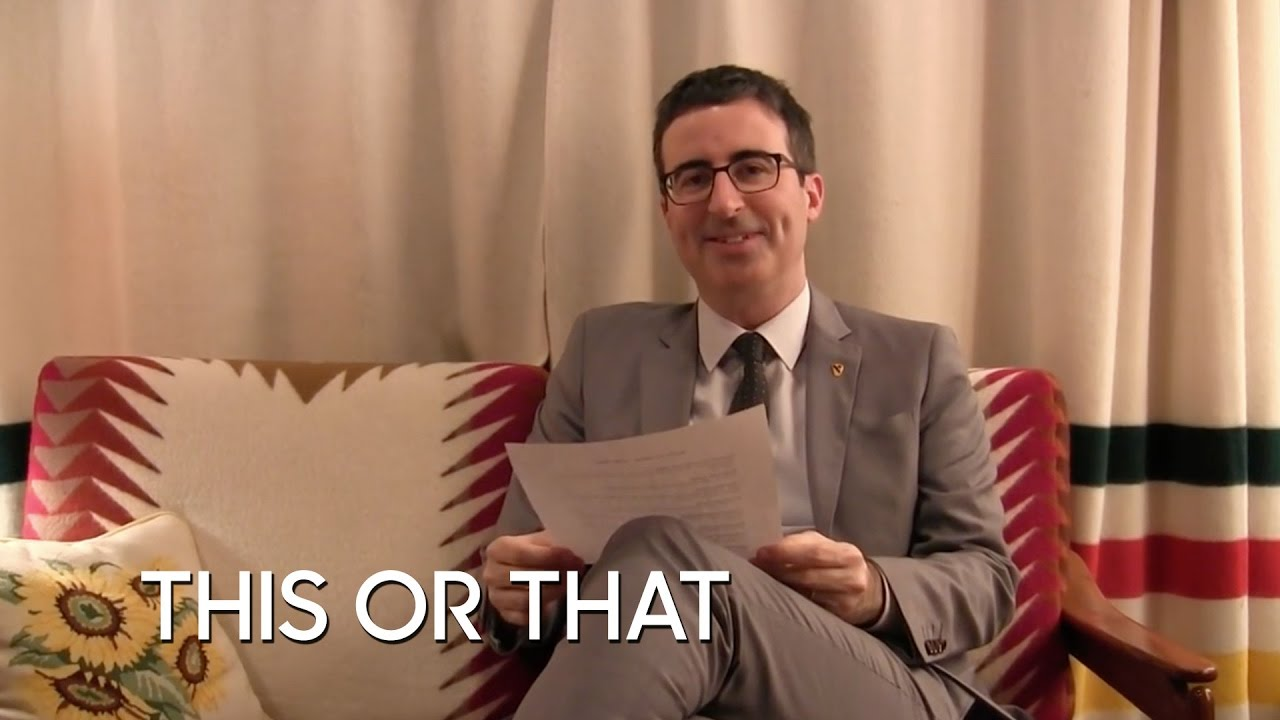 Would You Rather: John Oliver thumbnail
