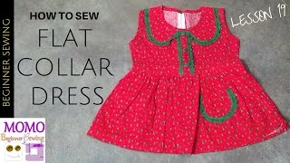 How To Sew Flat Collar Dress - Beginners Sewing Lesson 19
