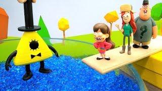 Видео с игрушками - Диппер из Гравити Фолз и Билл Шифра