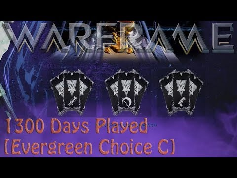 Warframe - 1300 Days Played Reward [Evergreen Choice C]