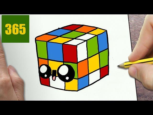 Video come disegnare cubo di rubik kawaii passo dopo passo for Immagini disegni kawaii