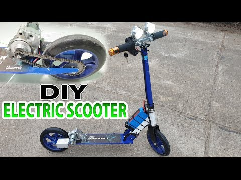 Build A Electric Scooter With Starter Motor Motorcycle and 775 Motor