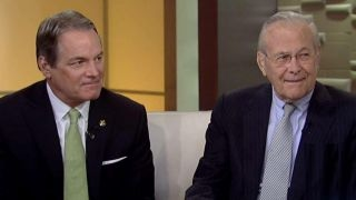 Rumsfeld and Col. Manion on the Travis Manion Foundation
