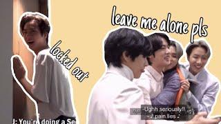 BTS bullying Jin, and Jin playing along