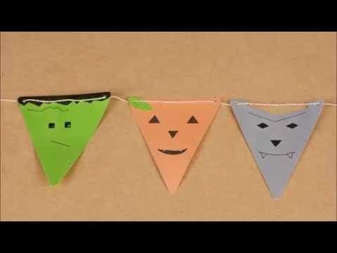 Lustige Girlande DIY Tutorial für Halloween