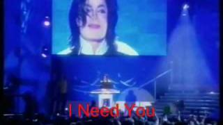 "Just Wanted To Say: ""I Need You"" (Michael Jackson)"
