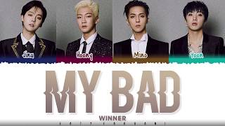 WINNER – 'MY BAD' Lyrics [Color   - YouTube