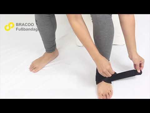 BRACOO Fußbandage - einstellbare Fußgelenkstütze mit Klettverschluss