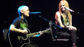 Evan Taubenfeld & Avril Lavigne in #Winnipeg -- Best Years of Our Lives -- MTS Center 2011 Live (HD)