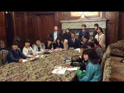 中村裕之国会報告 島牧小学校の皆さんが国会見学に訪れた H27.1.15(No359)
