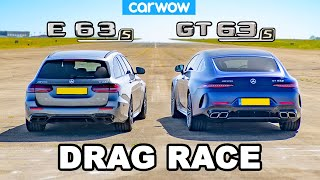 [carwow] AMG GT S 4-Door vs E63 S: DRAG RACE
