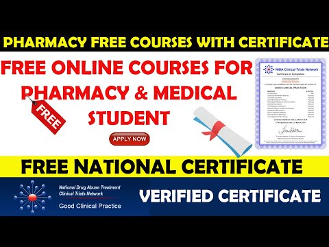 National Level Pharmacy Certificate | Free Online Course for Pharmacy & Medical Students