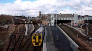 preview picture of video 'March Train Arriving Railway Station Perth Perthshire Scotland'