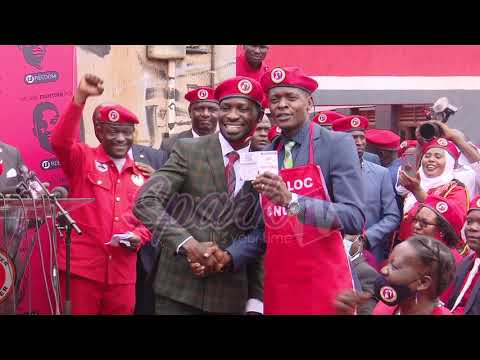 Bobi Wine welcomes Chameleon to NUP