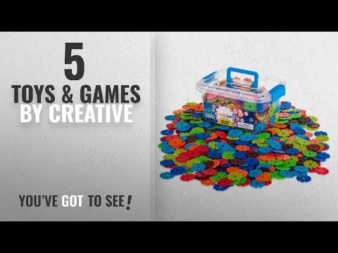 Top 10 Creative Toys & Games [2018]: Creative Kids Brain Flakes – Large 600 Piece Interlocking