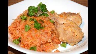 Тушеная Капуста с Рисом и Мясом в Мультиварке Скороварке Redmond