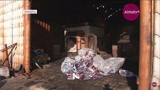 Несколько тысяч пар контрафактных носков сожгли под Алматы (17.01.19)