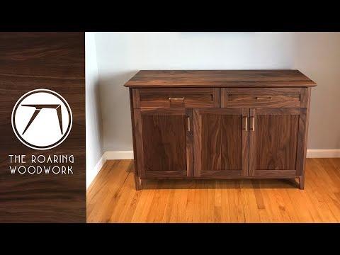 Making A Walnut Sideboard / Buffet Table   Woodworking