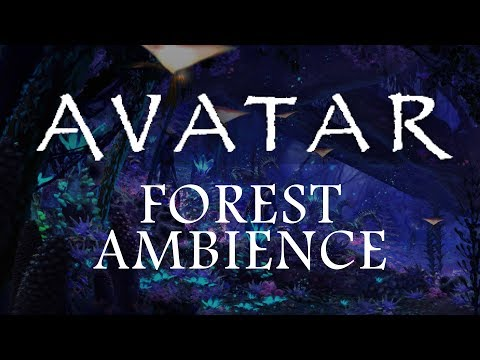 Avatar Ambience – Pandora at Night (Bioluminescence Forest Sounds and Occasional Rain)