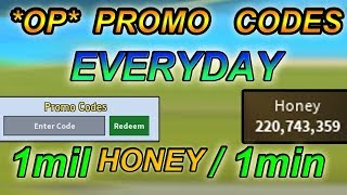 *OP* PROMO CODES - 1mil honey/1min?!?!  ( How to always know them ) - Bee swarm simulator