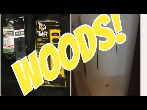 Woods® USB surge protector, Yellow Jacket® power strip, and wireless switch review!