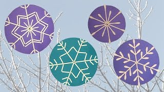Flocons de neige avec des coton-tiges DIY bricolage