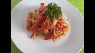 Овощные спагетти. Овощной гарнир
