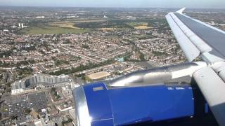 preview picture of video 'Sightseeing Alert! BA A319 Landing In Heathrow Over City Of London (September 7th, 2012)'