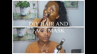 DIY Hair and Facemask ለደረቀ ፀጉር እና ቆዳ I yenafkot lifestyle