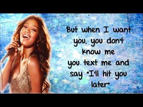 Keke Palmer - Love You & Hate You Lyrics Video HD