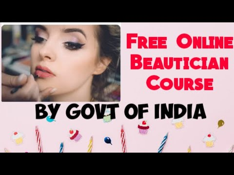 Free Online Beautician Course By Govt of India - YouTube