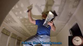 Popcorn Ceiling Texture Removal and Painting