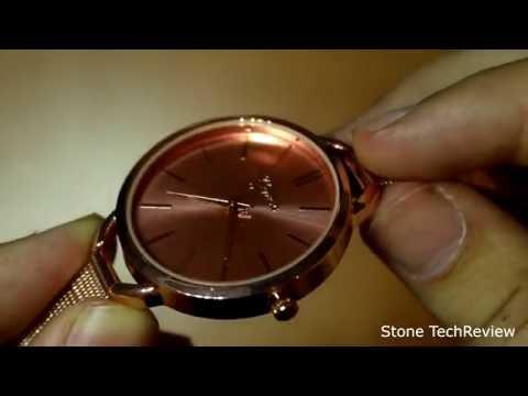 Unboxing XLORDX Mode Damenuhr Rosegold Gitter Edelstahl Quartz Analog Uhr Sportuhr
