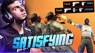 SATISFYING CS:GO PRO MOMENTS! (ONE TAPS & INSANE SPRAY DOWNS)
